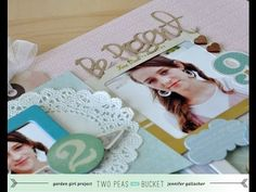 Scrapbooking Process Video: Garden Girl Jen Gallacher focuses on using frames to create both a layout and a card. #seeingdoublevideo
