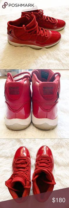 Nike Air Jordan 11 Retro GS WIN LIKE 82 Red 378038-623 sz 4y no box lid