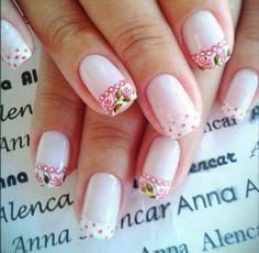 Cute!!! La Nails, Jelly Nails, Pink Nail Art, Stylish Nails, Easy Nail Art, French Nails, Nail Arts, Pretty Nails, Nail Colors