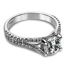 0.60 CTW Diamond Semi-Mount Ring in 14KT White Gold. We can set this ring with any diamond (or other stone) you'd like!