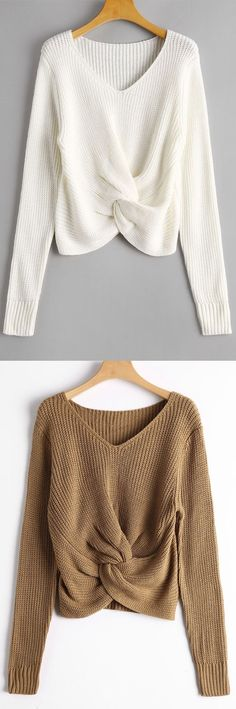 Up to 70% OFF! V Neck Twist Chunky Sweater. Zaful,zaful.com,zaful online shopping, sweaters&cardigans, sweater,sweaters,cardigans,choker sweater,chokers,chunky sweater,chunky,cardigans for women, knit, knitted, knitting, knitwear, cardigan, cardigan outfit,women fashion,winter outfits,winter fashion,fall outfits,fall fashion, halloween costumes,halloween,halloween outfits,halloween tops. @zaful Extra 10% OFF Code:ZF2017
