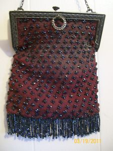 Vintage glass beaded purse $31