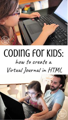 Coding for Kids: how to start a Virtual Journal in HTML. Fun child-led way to teach young children how to code, from Go Science Kids. Creative Activities For Kids, Science For Kids, Creative Kids, Steam Activities, Science Activities, Teaching Kids, Kids Learning, Stem Teaching, Coding Websites