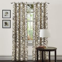 Lush Decor Lush Décor Ventura Window Curtain Panel, 84' x 50', Taupe -- More info could be found at the image url. (This is an affiliate link and I receive a commission for the sales)
