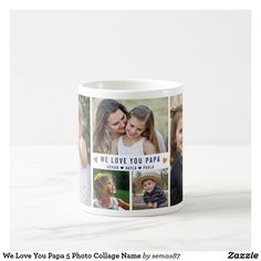 We Love You Papa 5 Photo Collage Name Coffee Mug Love You Papa, Our Love, Reflection Art, Grandpa Gifts, Grandparents Day, Party Hats, Aesthetic Wallpapers, Photo Mugs, Fathers Day