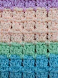 18 Baby Blanket Knitting Patterns So Cute for Your Kids Crochet Afghans, Crochet Baby Blanket Free Pattern, Crochet For Beginners Blanket, Crochet Square Patterns, Crochet Stitches Patterns, Free Crochet, Crochet Blankets, Easy Crochet, Crochet Block Stitch