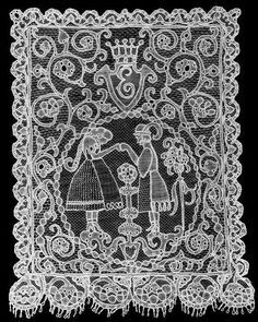 Kiskunhalas- The story of the Halasi lace started in when Árpád Dékáni's plans, who was the art teacher of the local high school in Kiskunhalas, was carried out by the clever handed dressmaker, Mária Markovics. Textiles, Needle Lace, Lace Embroidery, Vintage Lace, Lace Fabric, Hungary, Dressmaking, Folk Art, Mandala