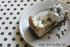Chocolate Chip Cookie Dough Cheesecake.  a party in my tummy!