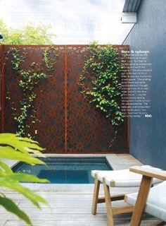 Backyard patio ideas on a budget yards plunge pool 40 ideas Hinterhof Terrasse Ideen auf einem Budge Pools For Small Yards, Backyard Ideas For Small Yards, Small Backyard Pools, Backyard Patio, Backyard Landscaping, Garden Pool, Townhouse Landscaping, Small Patio, Tropical Garden