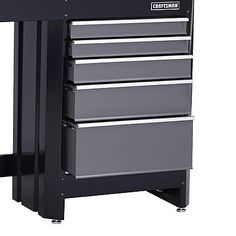 Craftsman 5-Drawer Workbench Module - Black/Platinum