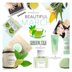 """Tea Time: Green Tea Beauty"" by lacas ❤ liked on Polyvore featuring beauty, Vera Wang, Elizabeth Arden, Forever 21, Mario Badescu Skin Care, Youth To The People and GreenTeaBeauty"