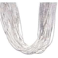Superb 30 Strand 16 Inch Sterling Liquid Silver Necklace