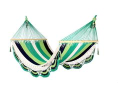 I believe this hammock could take me places.  Mix Green Hammock by veronicacolindres on Etsy, $80.00