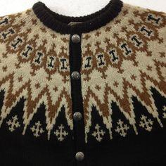 Nordic Wool Men's Cardigan Sweater Fair Isle, Alpine, Marshall Field Vintage Size Large by TheTasteLady on Etsy