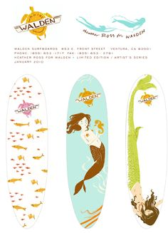 thoughts, one day, surfs up, surfboards, illustrations
