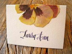 wedding card made out of dried flower - Google Search