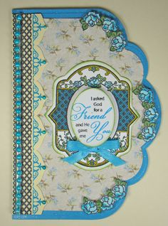 Card designed by Angela Barkhouse using Spring Rose Medallions and Classic Lace Borders One