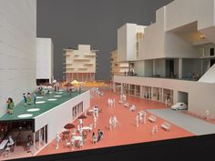 """Trace the history of alternative housing in """"Together! The New Architecture of the Collective"""" at the Vitra Design Museum Vitra Design Museum, Ryue Nishizawa, Youth Center, Micro House, Social Housing, Ad Design, Scale Models, Home Projects, Facade"""