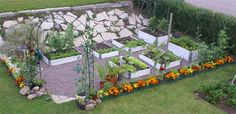 Neet and nice with pallet frame gardening.