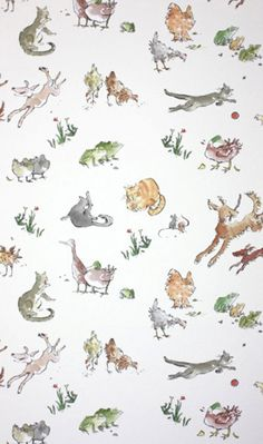 QUENTIN'S MENAGERIE W6063-04 Designer Fabrics and Wallpapers by Sanderson, Harlequin, Morris, Osborne, Little And many more