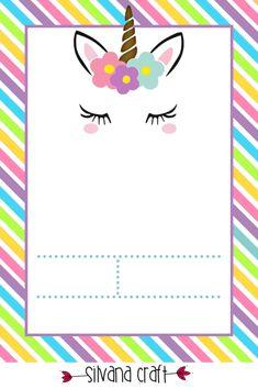 La Super Mamy: I love Unicornios Unicorn Crafts, Unicorn Art, Rainbow Unicorn, Baby Shower Unicornio, Diy Unicorn Headband, Cute Cartoon Boy, Printable Invitation Templates, Little Pony Party, Unicorns And Mermaids