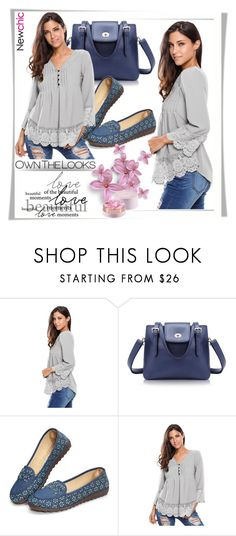 """Newchic"" by melissa995 ❤ liked on Polyvore featuring Lancôme and plus size clothing"