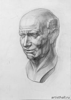 Charcoal Portraits, Charcoal Art, Figure Drawing, Painting & Drawing, Academic Art, Learn Art, Russian Art, Portrait Art, Painting Techniques