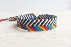 Friendship embroidered bracelet, Aztec woven wristband, Anklet, Rainbow LGBT macrame, Boho teen bracelet, Arm candy, Tribal, Ethnic