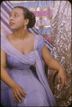 "Soprano Adele Addison, photographed by Carl Van Vechten on April 8, 1955, around the time she played Mimi in La Boheme at City Center in New York. Ms. Addison, a native of Springfield, Massachusetts, also dubbed Dorothy Dandridge's singing voice for the 1959 film, ""Porgy and Bess."""