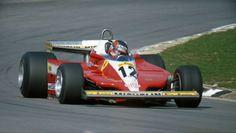 Gilles Villeneuve su Ferrari 312T3 1979 Gilles Villeneuve, Cars And Motorcycles, Race Cars, Ferrari, Pilot, Racing, Passion, Draw, Drag Race Cars