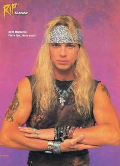 Love how Bret Michaels has his band's logo tattooed on his arm! 80 Bands, 80s Hair Bands, Rock Bands, Bret Michaels Poison, Bret Michaels Band, Hard Rock, Beautiful Men, Beautiful People, Glam Metal