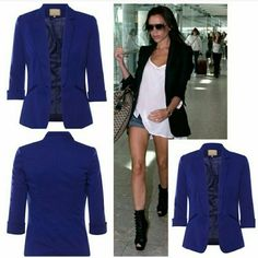 LAST ONE! Navy blue blazer New. Last one available on vnvyboutique.bigcartel.com for $32. Free shipping on boutique when you spend $100 or more. Use code: FREESHIP. Jackets & Coats Blazers