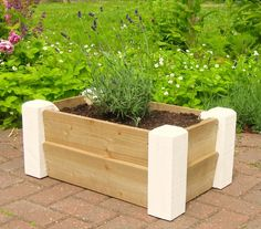Painted Wooden trough Planter - Spring Sale Now On! £35.50
