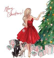 fashion illustration - Merry Christmas