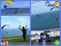Parapente Cursos Ecuador Puedes aprender de este deporte de aventura en nuestra escuela de parapente. Con instructores certificados y con experiencias. LLeno de adrenalina , ademas podras disfrutar de los hermosos paisajes desde los cielos.