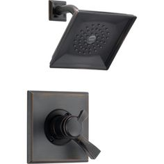 Shop Delta Dryden Venetian Bronze 1-Handle Shower Faucet Trim Kit with Rain Showerhead at Lowes.com