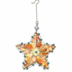 Buy your Rustic Star Ornament, copper, turquoise, Fair Trade Ornament, Pilgrim…