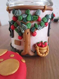 apple tree decor jar idea