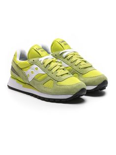 Saucony Limited Edition Donna sneakers in suede verde lime e bianco | ZO et LO