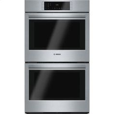 """HBL8651UC in Stainless Steel by Bosch in Latham, NY - 30"""" Double Wall Oven 800 Series - Stainless Steel"""