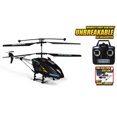 World Tech Toys 3.5ch Gyro Hercules-X Unbreakable Remote Control Helicopter, Black