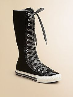 Converse Girl's Chuck Taylor X-Hi Fun Foxings Sneakers