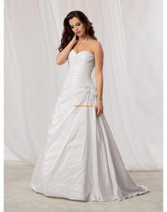Gulvlengde Kjæreste Taft Designer brudekjoler