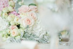 Pastel colors composition with roses