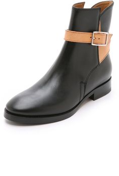 Acne Studios Bois Flat Boots with Straps