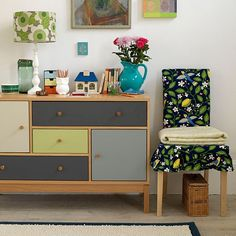 Check out these small living room ideas and design schemes for tiny spaces, from the Ideal Home archives. Take a look at the best small living room ideas Small Living Room Design, Living Room Colors, Small Living Rooms, Living Room Designs, Painted Sideboard, Small Sideboard, Wood Dresser, Painted Furniture, Hallway Decorating