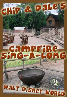 FREE Chip and Dale Campfire Sing-Along at Walt Disney World! It is located at Ft. Wilderness and it is FREE to everyone, even those aren't staying there. It is a must do on your next Disney trip. Disney Vacation Club, Walt Disney World Vacations, Disney World Resorts, Disney Parks, Disney Destinations, Disney Cruise, Disney World Tips And Tricks, Disney Tips, Disney Fun