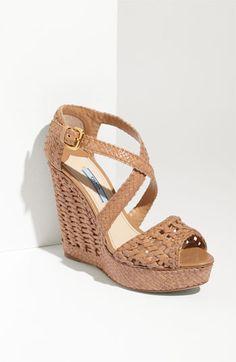 Prada. Love the woven sole.
