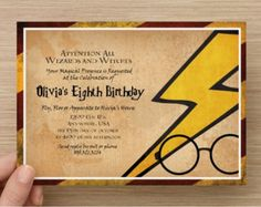 Harry Potter Inspired Birthday Invitation Custom Invitation