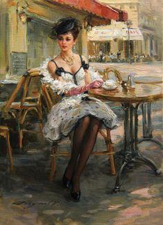 Femeie la cafea  Konstantin Razumov